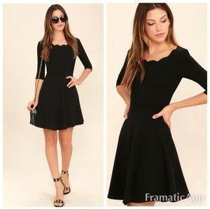 New lulus tip the scallops black dress